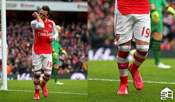 Santi Cazorla (Arsenal) Puma evoSpeed 1.3 Leather Bright Plasma