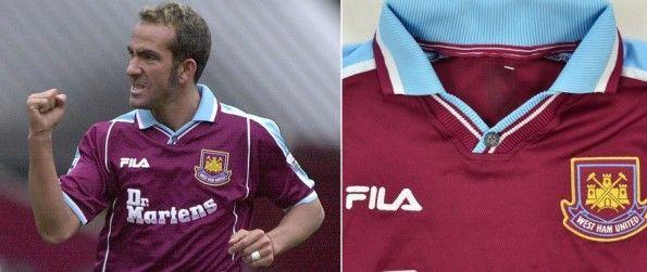 Bottoncino maglia West Ham 1999-2001