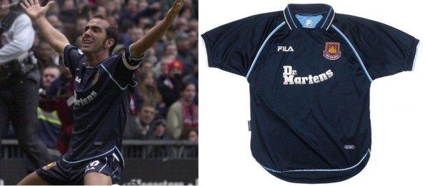 Di Canio con maglia da trasferta West Ham 1999-2001