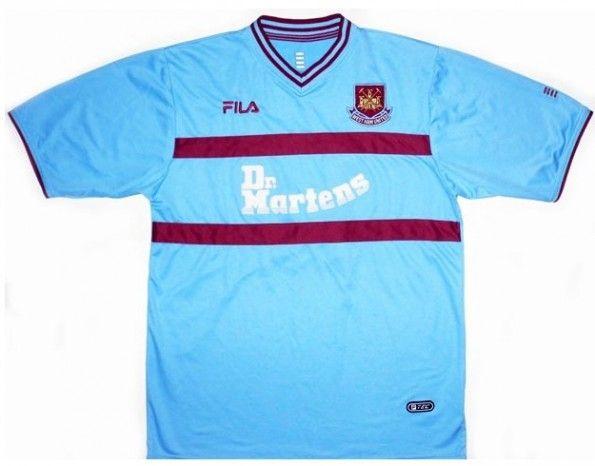 Maglia da trasferta West Ham 2001-2003