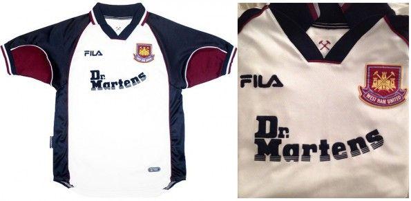 Maglia away West Ham 1999-2001