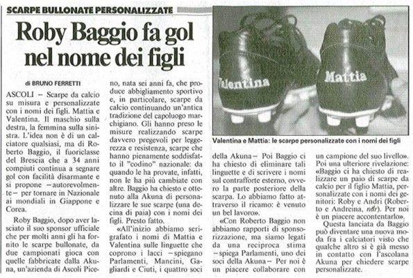 Roberto Baggio, le scarpe della sua carriera