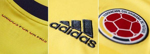Dettagli prima maglia Colombia Coppa America