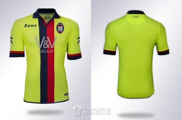 Terza maglia Crotone 2014-2015 gialla