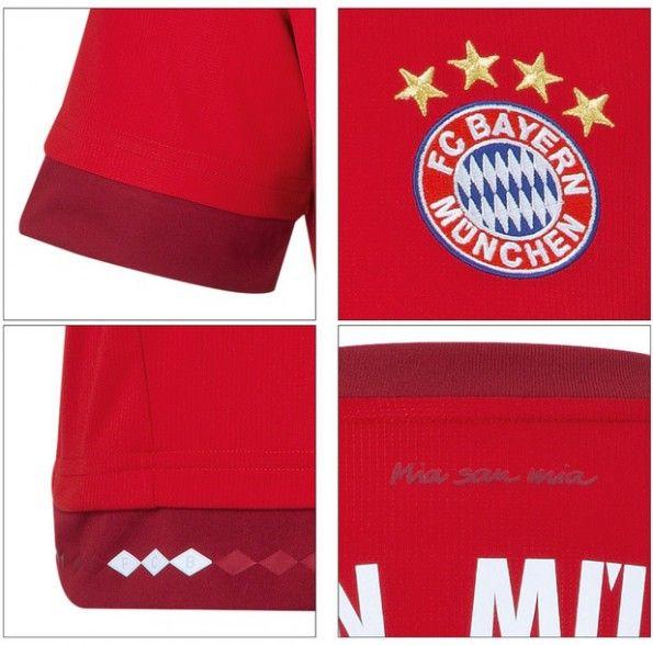 Dettagli maglia Bayern 2015-2016 casa