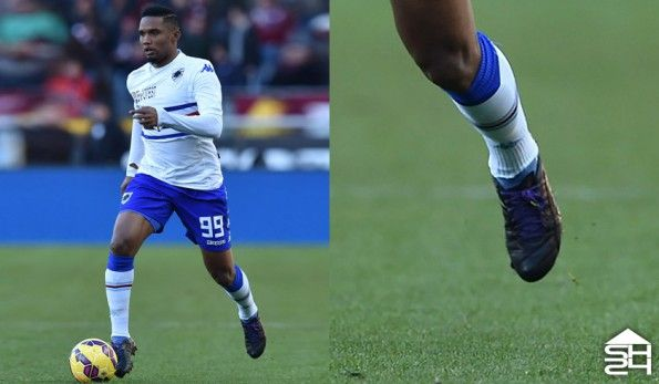 Samuel Eto'o (Sampdoria) Puma evoSpeed 1.3 Leather Custom