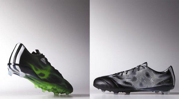Scarpe F50 in verde e in nero