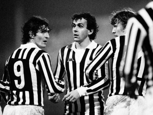 Juventus, numerazione, anni 1980