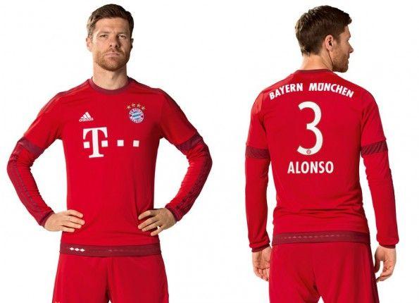 Maglia Bayern Monaco 2015-2016 a maniche lunghe