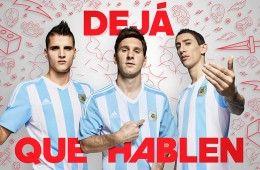 Messi, Di Maria, Lamela con la maglia dell'Argentina 2015