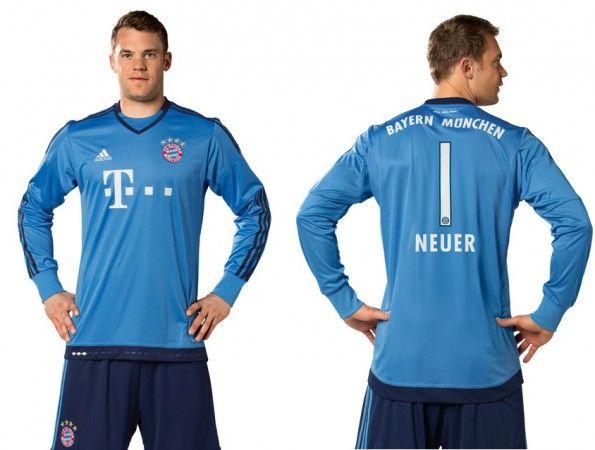 Neuer maglia portiere Bayern 2015-2016 azzurra