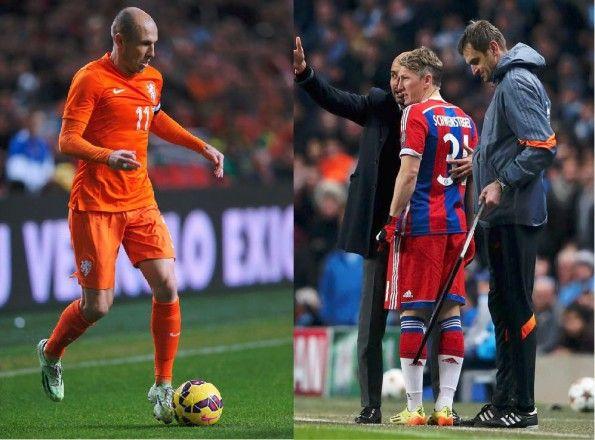 Robben e Schweinsteiger