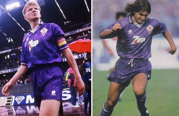 Effenberg e Batistuta nella Fiorentina 1992-1993