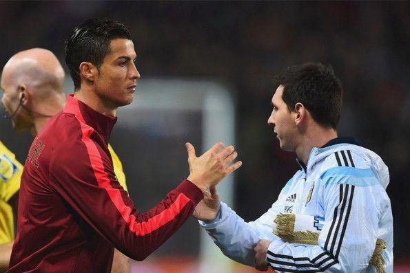 Cristiano Ronaldo e Leo Messi