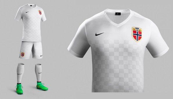 Seconda maglia Norvegia 2015-2016