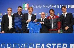 Conferenza stampa rinnovo contratto Puma FIGC