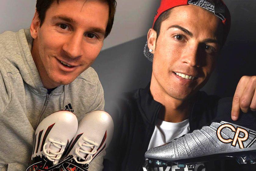 Le scarpe di Messi e CR7