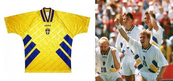 Le maglie della Svezia ai Mondiali del 1994