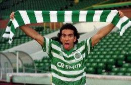 Paolo Di Canio alla presentazione con il Celtic