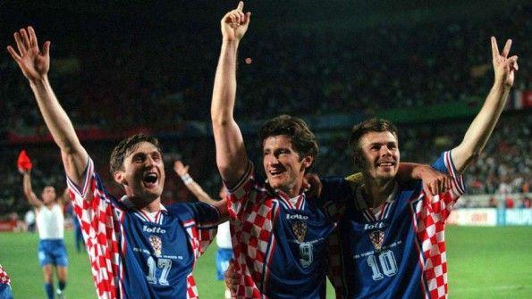 Esultanza Croazia per il terzo posto a Francia 98
