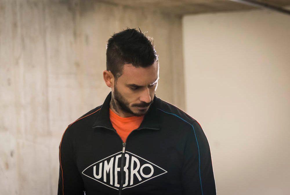 Mauricio Pinilla presenta la collezione Umbro Premier