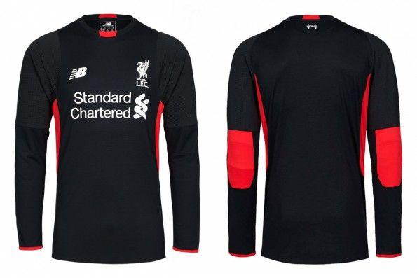 Maglia Liverpool portiere nera 2015-16