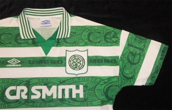 Trama sfondo Celtic maglia 1995-97 home