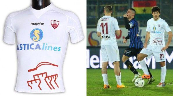 Seconda maglia Trapani 2014-15 bianca