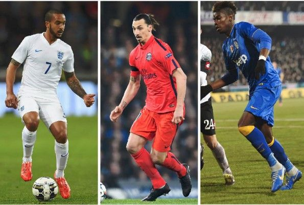 Walcott, Ibrahimovic, Pogba