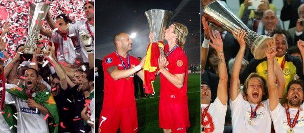 Il Siviglia nelle finali di Coppa Uefa