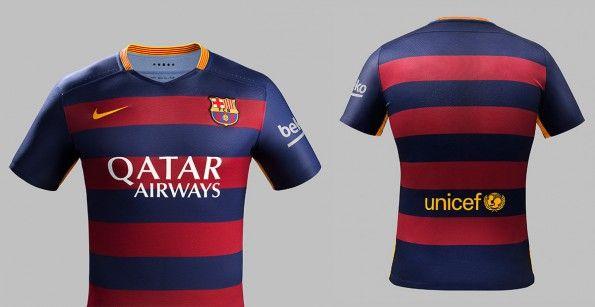 Prima maglia Barcellona 2015-2016 strisce orizzontali