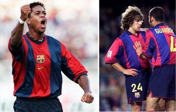 Confronto maglie Barcellona 1998 e 2001