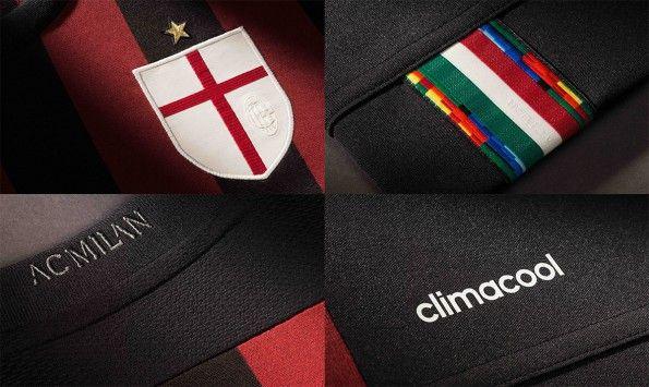 Dettagli prima maglia Milan 2015-2016
