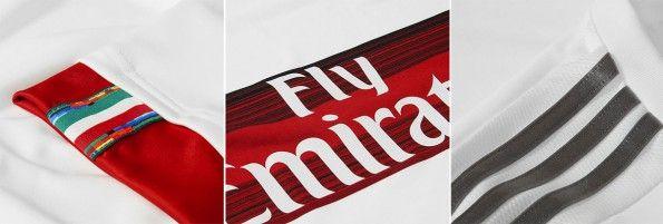 Milan trasferta, dettagli maglia 2015-2016