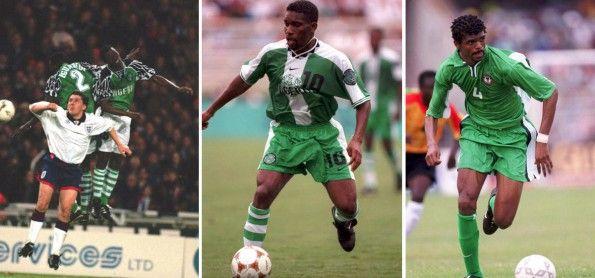 Maglie Nigeria firmate Nike 1994-2001