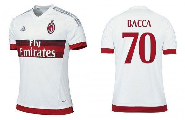 Seconda maglia Milan 2015-2016 bianca