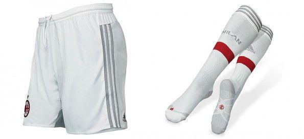 Pantaloncini calzettoni bianchi Milan away 2015-16