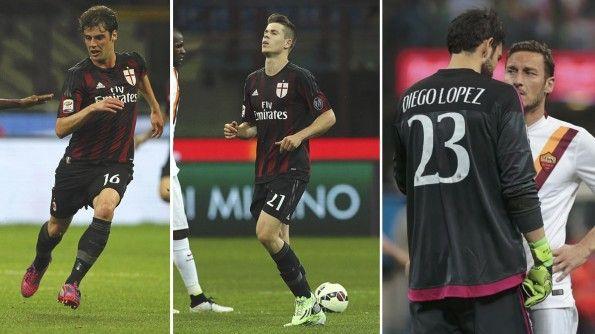 Milan-Roma, esordio kit rossonero 2015-16