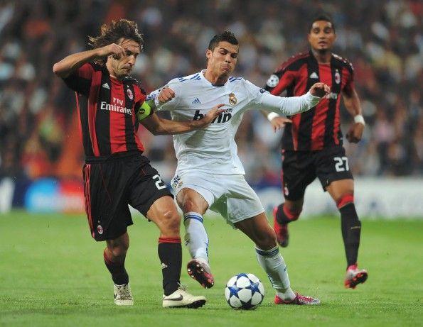 Pirlo al Milan contro Cristiano Ronaldo