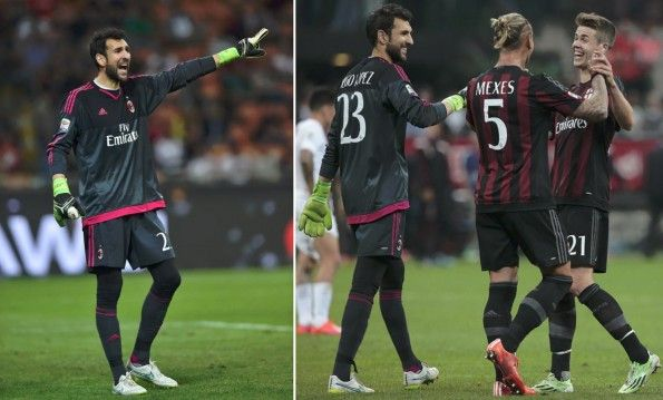 Maglia portiere Milan nera away 2015-16