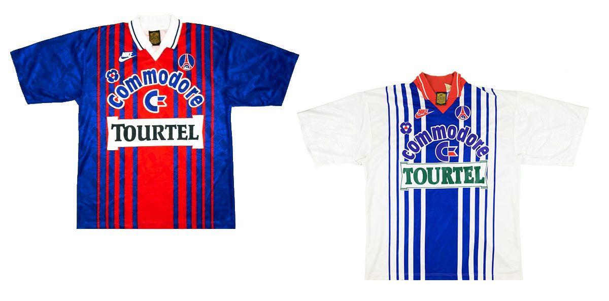 La favola del Paris-Saint Germain con le maglie anni '90 di Nike