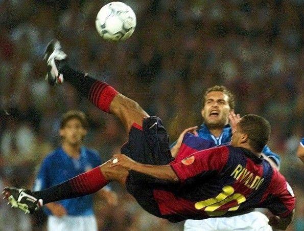 Rivaldo con la maglia del Barcellona
