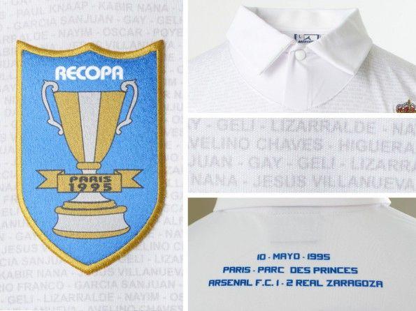 Dettagli casacca celebrativa Real Zaragoza