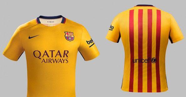 Seconda maglia Barcellona 2015-2016 senyera