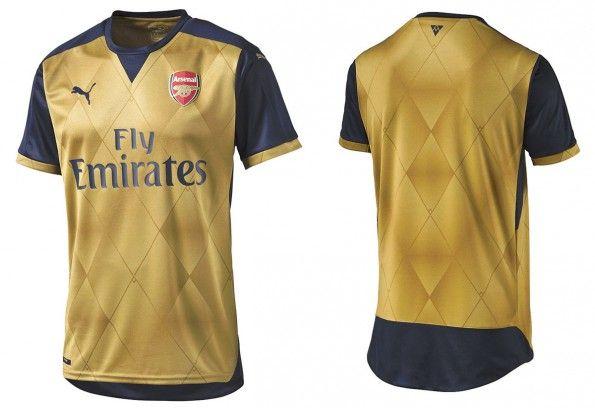 Seconda maglia Arsenal 2015-2016
