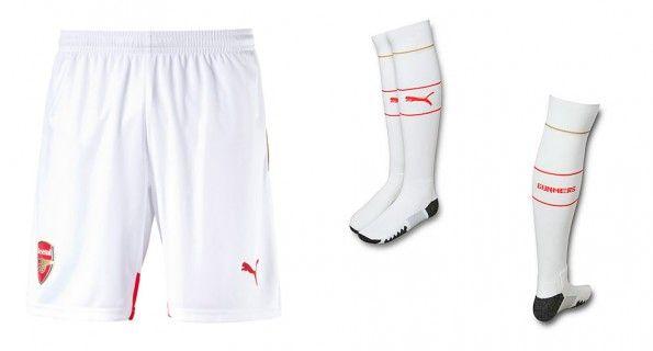 Arsenal pantaloncini calzettoni bianchi 2015-16