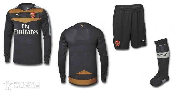 Maglia Arsenal portiere 2015-16 nera