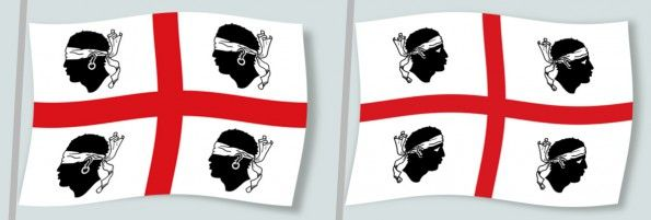Bandiera Sardegna prima e dopo il 1999