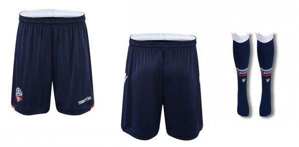 Bolton pantaloncini calzettoni home blu 2015-16