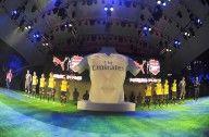 Lancio maglia away Arsenal 2015-16 a Singapore